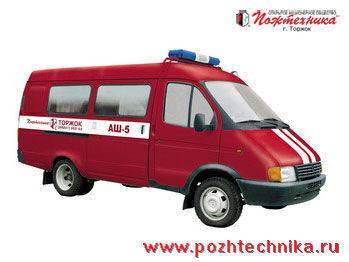 пожарна кола ГАЗ АШ-5 Автомобиль штабной