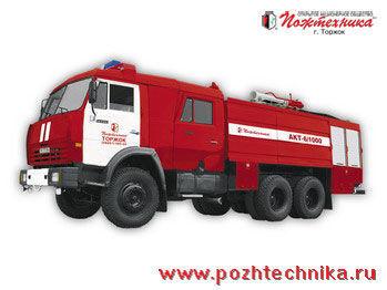 пожарна кола КАМАЗ АКТ-6/1000-80/20 Автомобиль комбинированного тушения