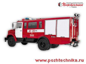 пожарна кола ЗИЛ  АГ-20 Автомобиль газодымозащитной службы