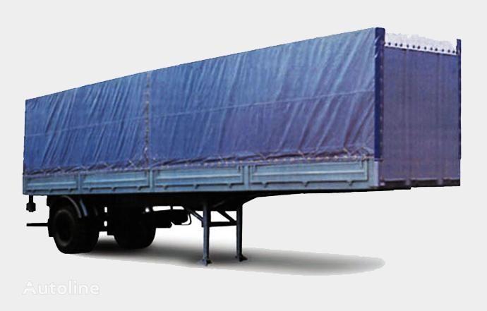 нов бордово полуремарке МАЗ 938020