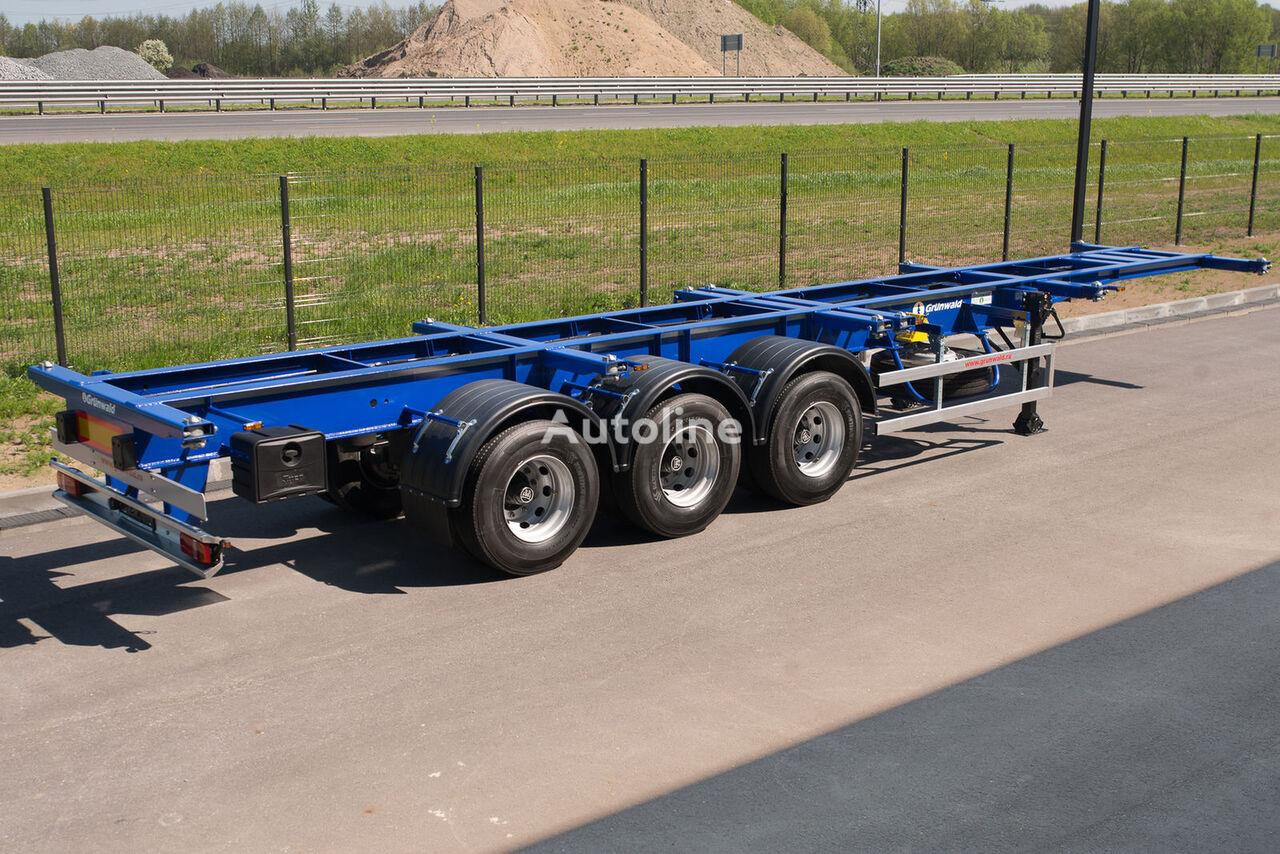 нов полуремарке контейнеровоз GRUNWALD Versatile heavy duty container semitrailer