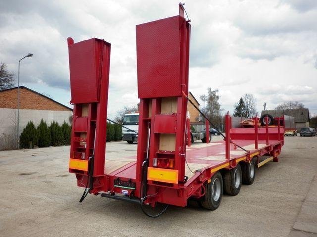 нов полуремарке ниска товарна площадка JANMIL  WABCO with ramps 30000 kg