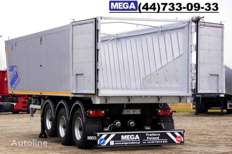 нов полуремарке самосвал MEGA 39/8360КД- cамосвал 39 кбм, aлюминиевый, клапан-дверей ГОТОВ!