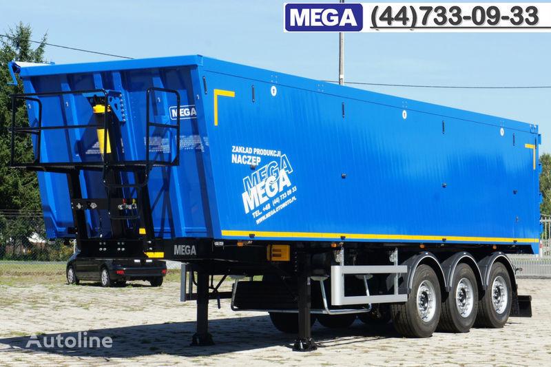 нов полуремарке самосвал MEGA 45 m³ - alum. tipper SUPER-LIGHT - 5,300 KG & hatch door - READY
