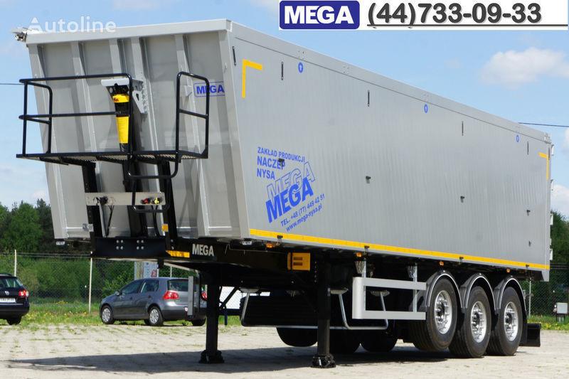 нов полуремарке самосвал MEGA 50 M³ KIPPER AUS ALUMINIUM ! SUPER LEICHT 5.900 KG !  = BEREIT !