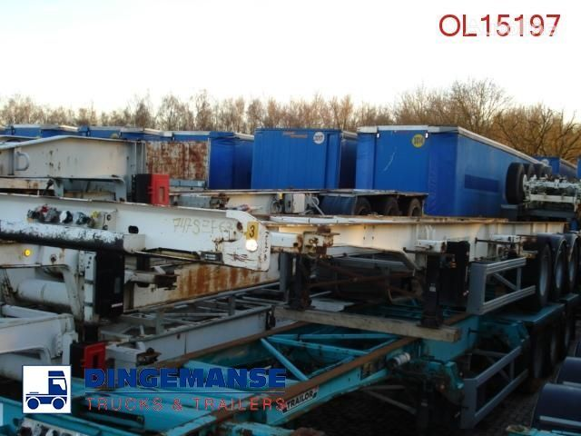 полуремарке шаси TRAILOR Container trailer 20/20/40 FT
