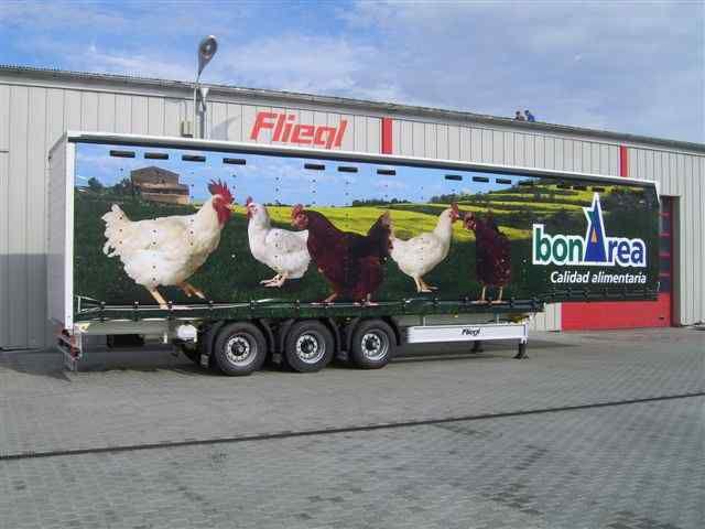 нов полуремарке за превоз на птици FLIEGL SDS 350 Geflugel