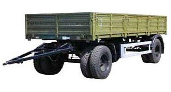 нов бордово ремарке КАМАЗ СЗАП-8355