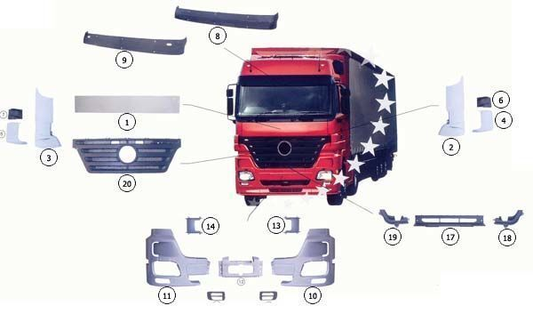 нов капот  MERCEDES 9437500009 за камион MERCEDES-BENZ ACTROS MP2