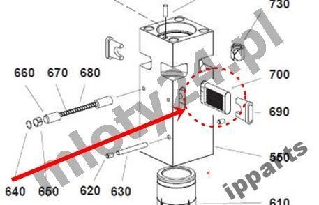 резервни части за друга строителна техника MONTABERT 1200 klin zabezpieczenie grot nie Ramer
