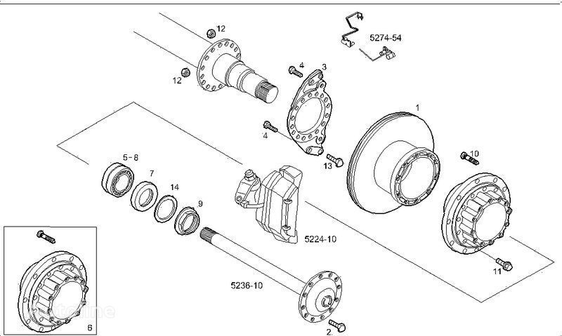 нов спирачен диск  2995812 2996328 7185503 7189476 за камион IVECO STRALIS