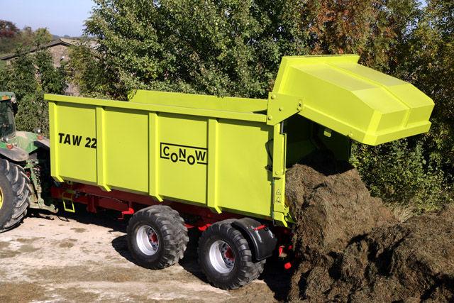 нов ремарке за трактор CONOW TAW 22