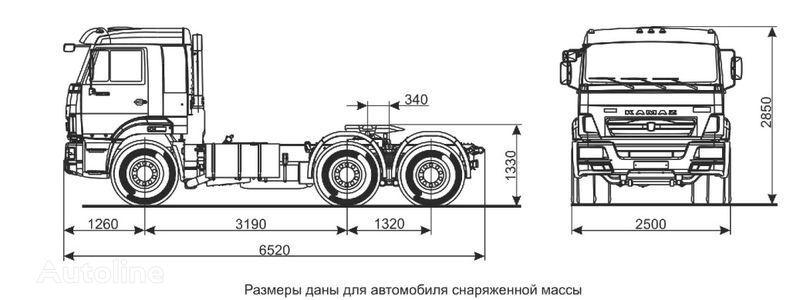 влекач КАМАЗ Седельный тягач КАМАЗ-65116 (6х4)