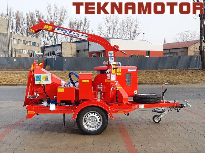 нов дробилка за клони TEKNAMOTOR Skorpion 160SD