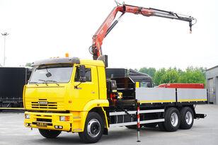 бордови камион КАМАЗ 65117 , 6x4 , Crane Fassi 95 , rotator , box 6m
