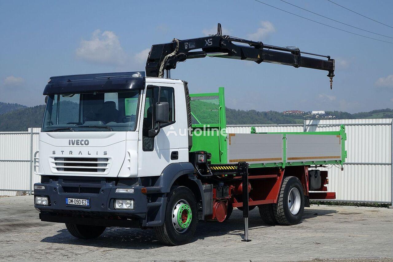 бордови камион IVECO Stralis 310 Kipper 5,30m + Kran*4x2*Topzustand!