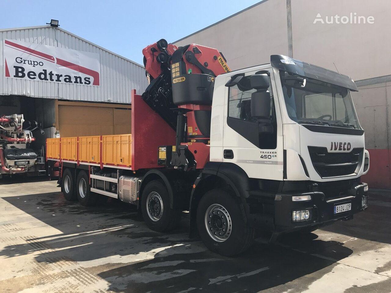 нов бордови камион IVECO TRAKKER 450 EURO6!!! PALFINGER 78002+JIB NEW!!