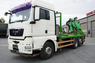 бордови камион MAN TGX 26.440 XLX  ,E5 , steer axle , Crane Palfinger Epilson + rem