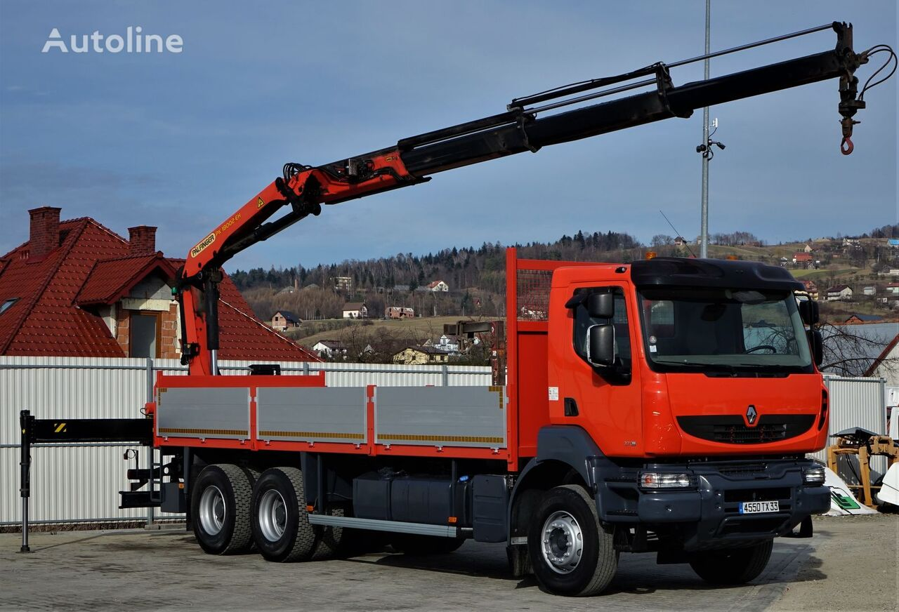 бордови камион RENAULT Kerax 370DXI Pritsche 7,00m+Kran Topzustand!