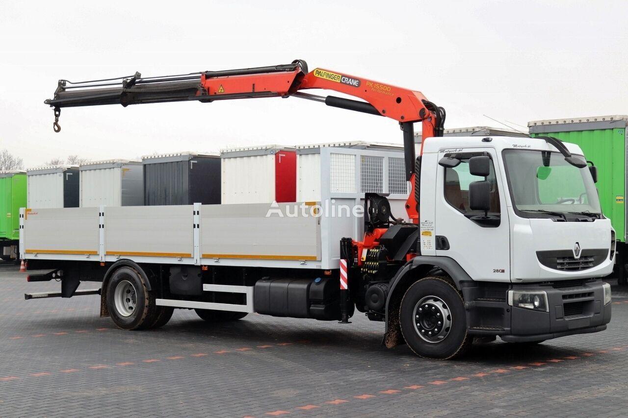бордови камион RENAULT PREMIUM 280 DXI / 4X2 / MACARA PALFINGER PK 15500 / L - 7,5M /
