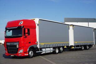 брезентов камион DAF 106 / 480 / SSC / ACC / EURO 6 / ZESTAW PRZEJAZDOWY 120 M3 + ремарке със завеси