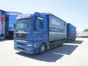 брезентов камион MAN + ремарке със завеси
