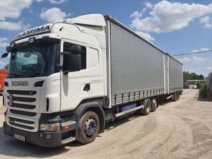 брезентов камион SCANIA R400 + ремарке със завеси