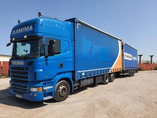 брезентов камион SCANIA R440 + ремарке със завеси