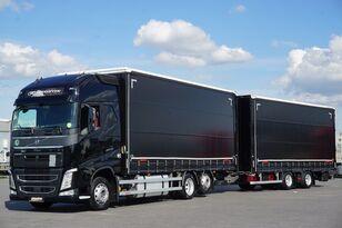 брезентов камион VOLVO FH / 460 / XXL / ACC / EURO 6 / ZESTAW PRZEJAZDOWY 120 M3 + ремарке със завеси