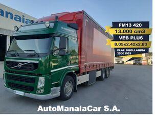 брезентов камион VOLVO FM13 420 6X2 GLOBETROTTER 13.000 cm3 CAIXA CORTINAS