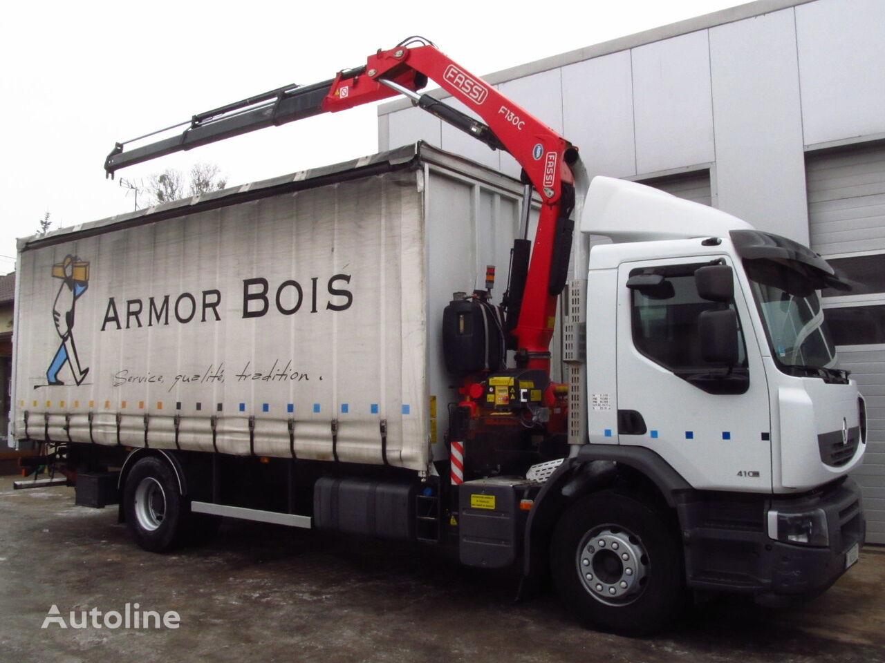 брезентов камион RENAULT PREMIUM LANDER 410DXI FASSI F130 NEW