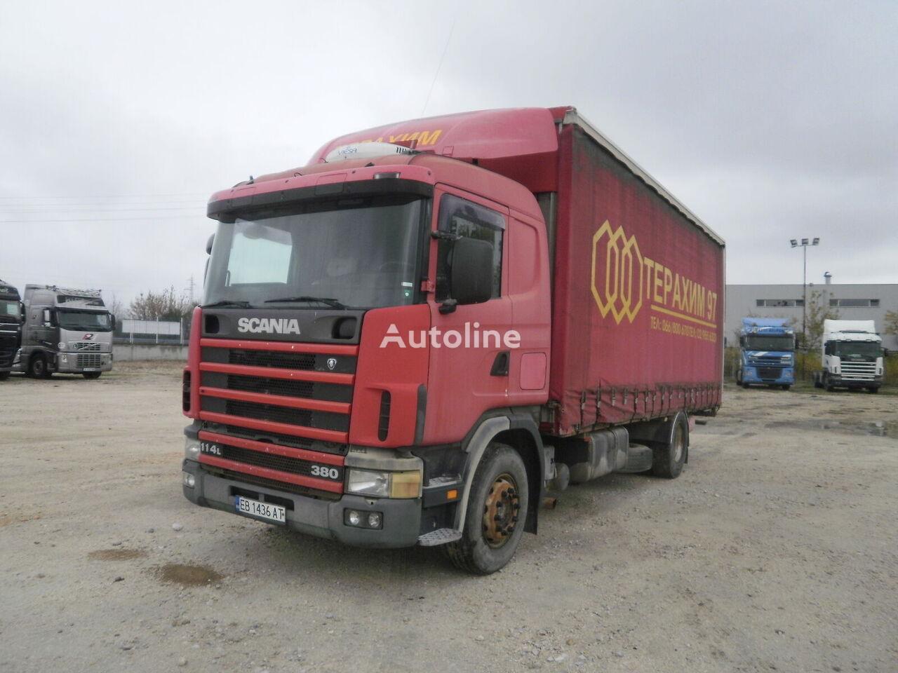 брезентов камион SCANIA R114 LB4X2NA 340 EURO2 + ремарке със завеси