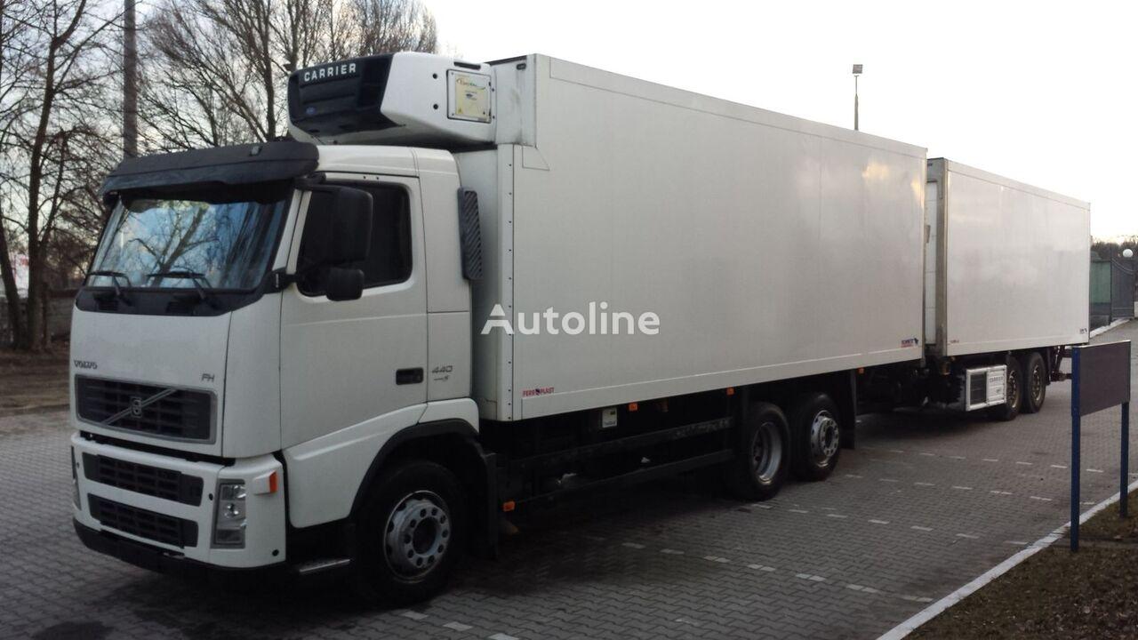 хладилен камион VOLVO FH440 Chłodnia + Przyczepa Tandem 2 x winda ! 12.2008 36EP Euro5 + хладилен ремарке
