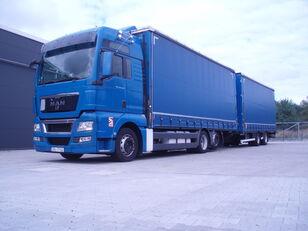 камион брезент MAN TGX 26.440 + ремарке брезент
