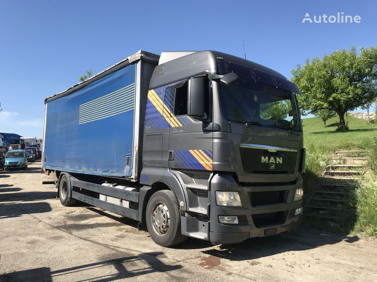 камион брезент MAN 18.440