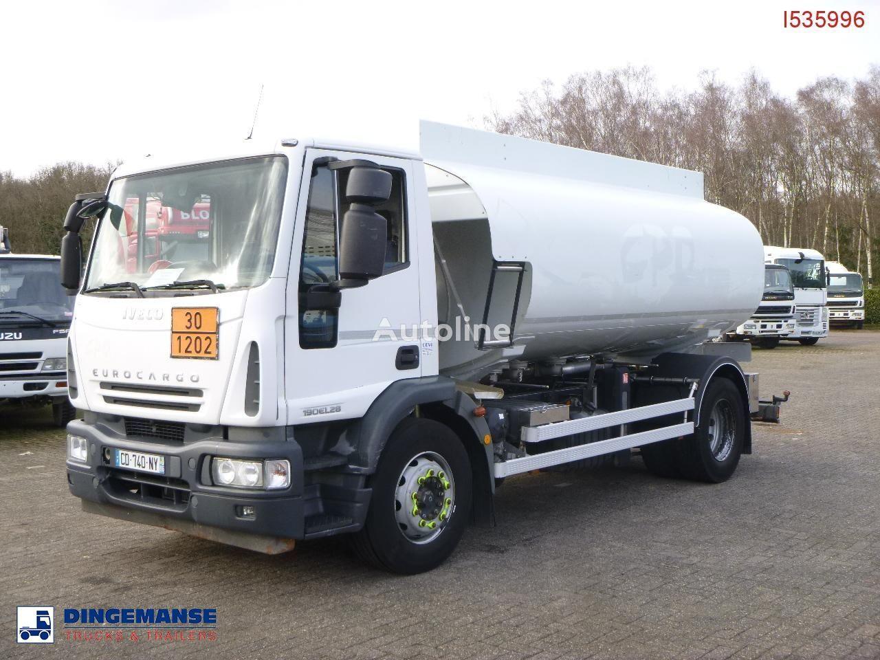 камион цистерна за горива IVECO Eurocargo ML190EL28 4x2 fuel tank 13.7 m3 / 4 comp