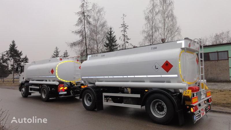 нов камион цистерна за горива SCANIA DAF,MAN,VOLVO,MB + ремарке брезент