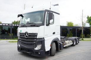 камион контейнеровоз MERCEDES-BENZ Actros 2542 , E6 , 6X2 , low deck MEGA , steering axle , BDF , 7