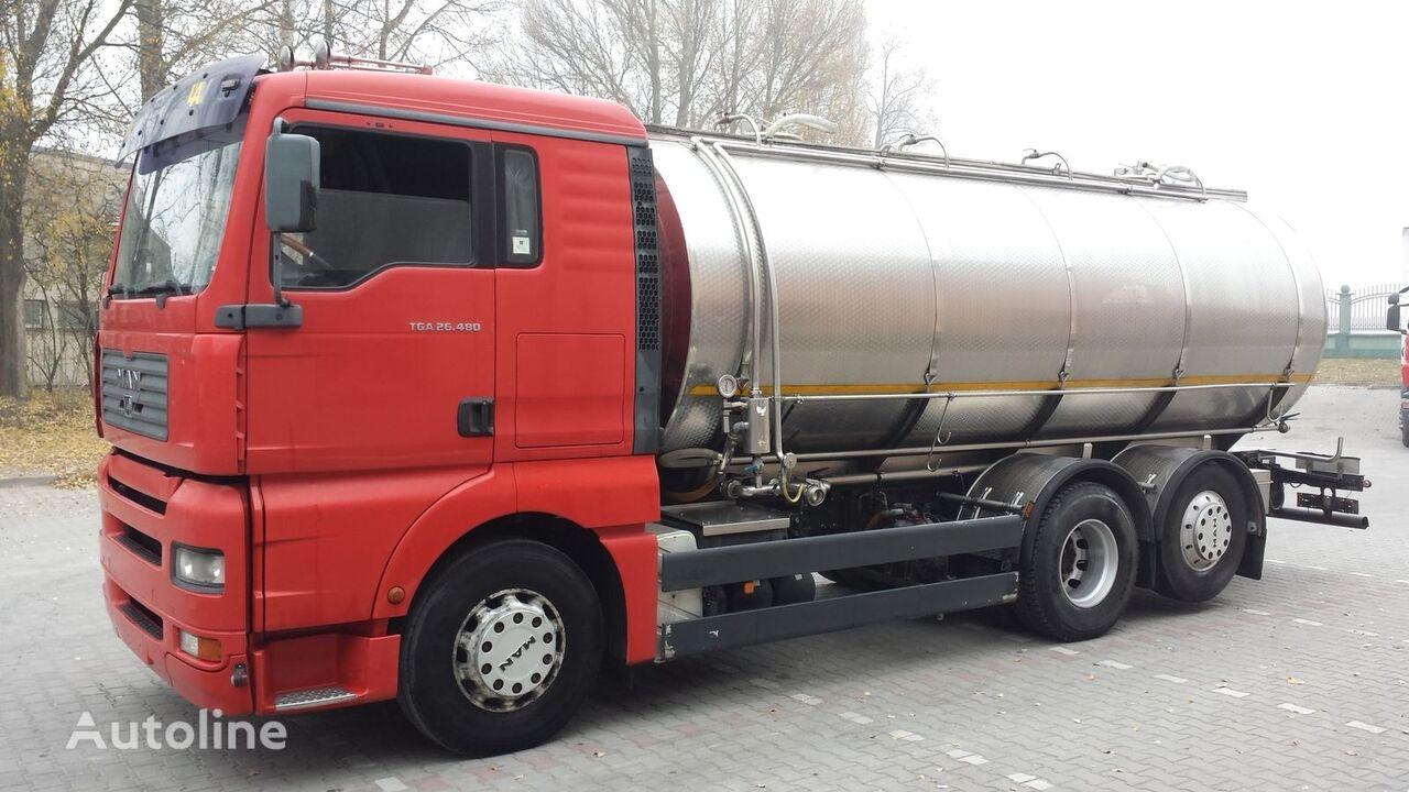 камион млековоз MAN TGA 26.480 Cysterna Spożywcza