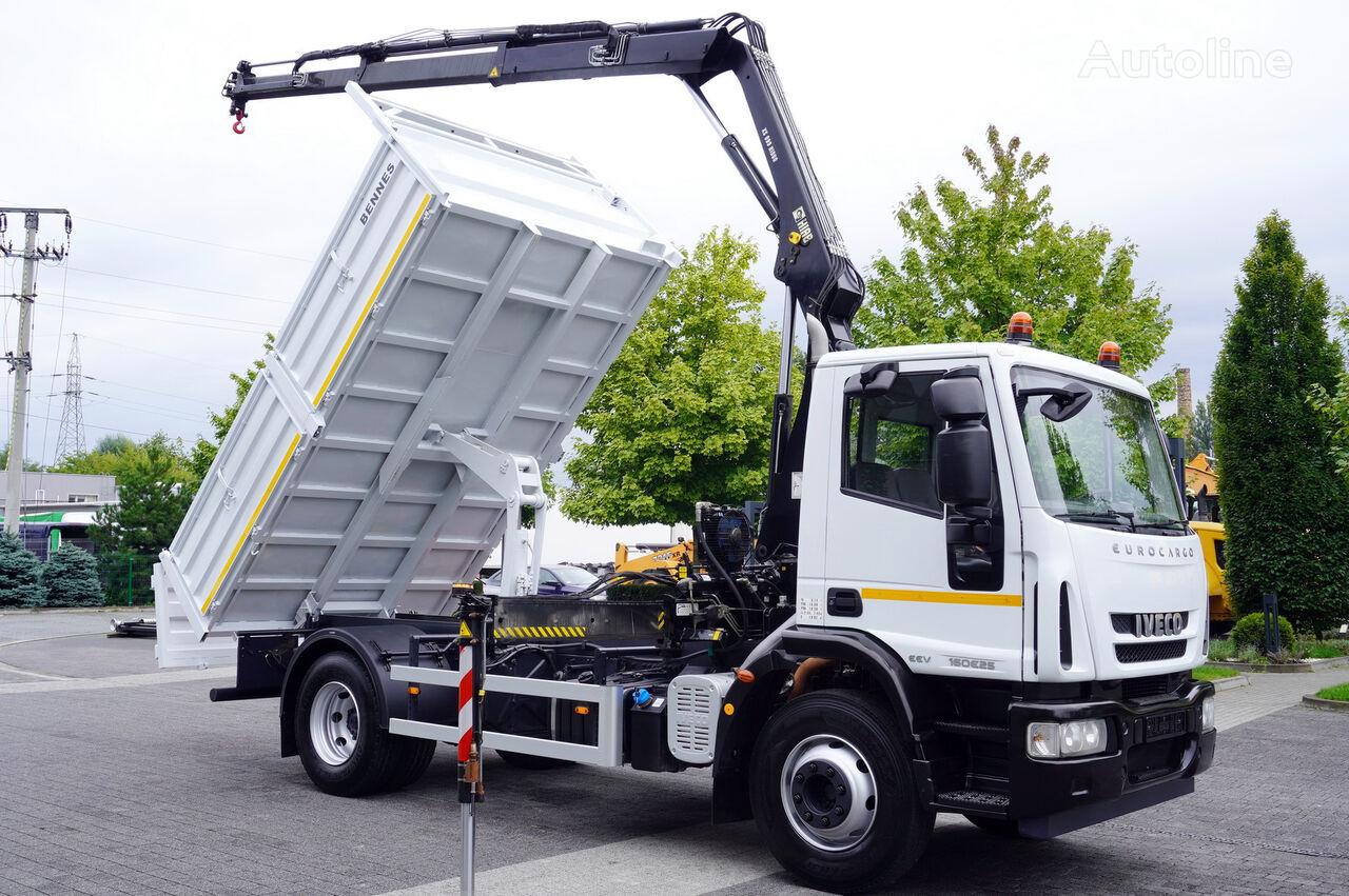 камион самосвал IVECO Eurocargo 160E25 , EEV , 4X2 , tipper + Crane , Remote Control