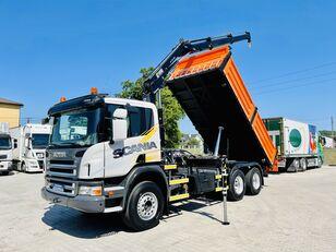 камион самосвал SCANIA P320 6x4 E5 kiper 3-Stronny + dżwig HIAB XS 144 DUO , Super stan