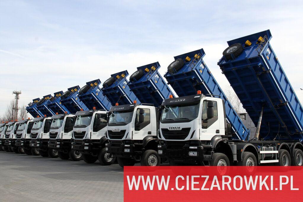 камион самосвал IVECO Trakker 450 , E6 , 8x8 , 3-side tipper , retarder 5 UNITS FOR S
