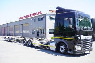 камион шаси DAF XF 460 SC , E6 , 6X2 , BDF + Wecon 2 axles trailer , BDF SET + ремарке шаси