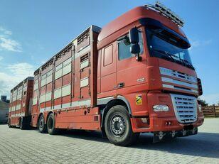 камион за превоз на животни DAF XF 105.510 6x4 Élőállat-szállító + ремарке за превоз на животни