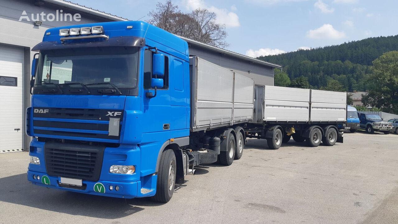 камион зърновоз DAF 95XF 430 + ремарке за превоз на зърно