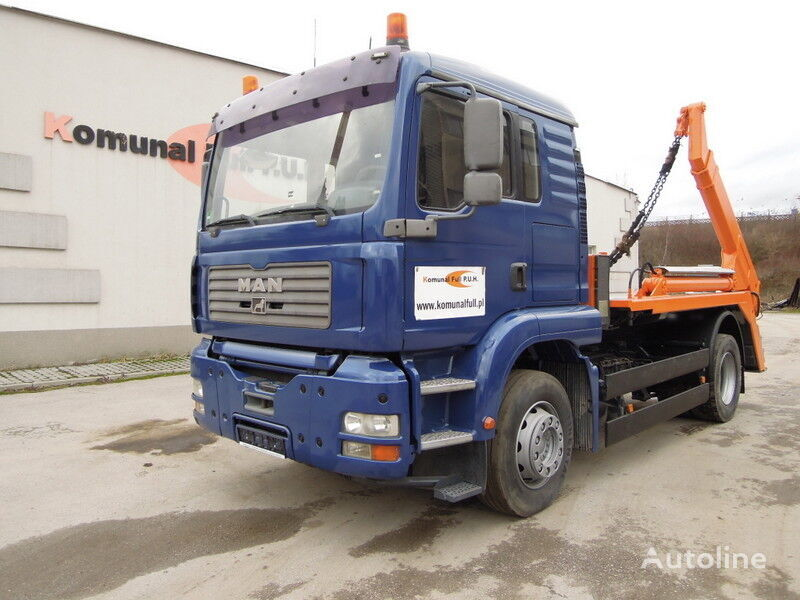 мултилифт за контейнери камион MAN TGA 18-360 Bramowiec teleskopowy
