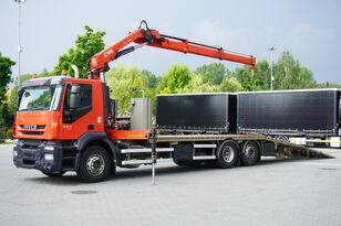 пътна помощ IVECO Stralis 360, EEV, 6x2, 7.8m tow truck, lift axle , CRANE HIAB ma