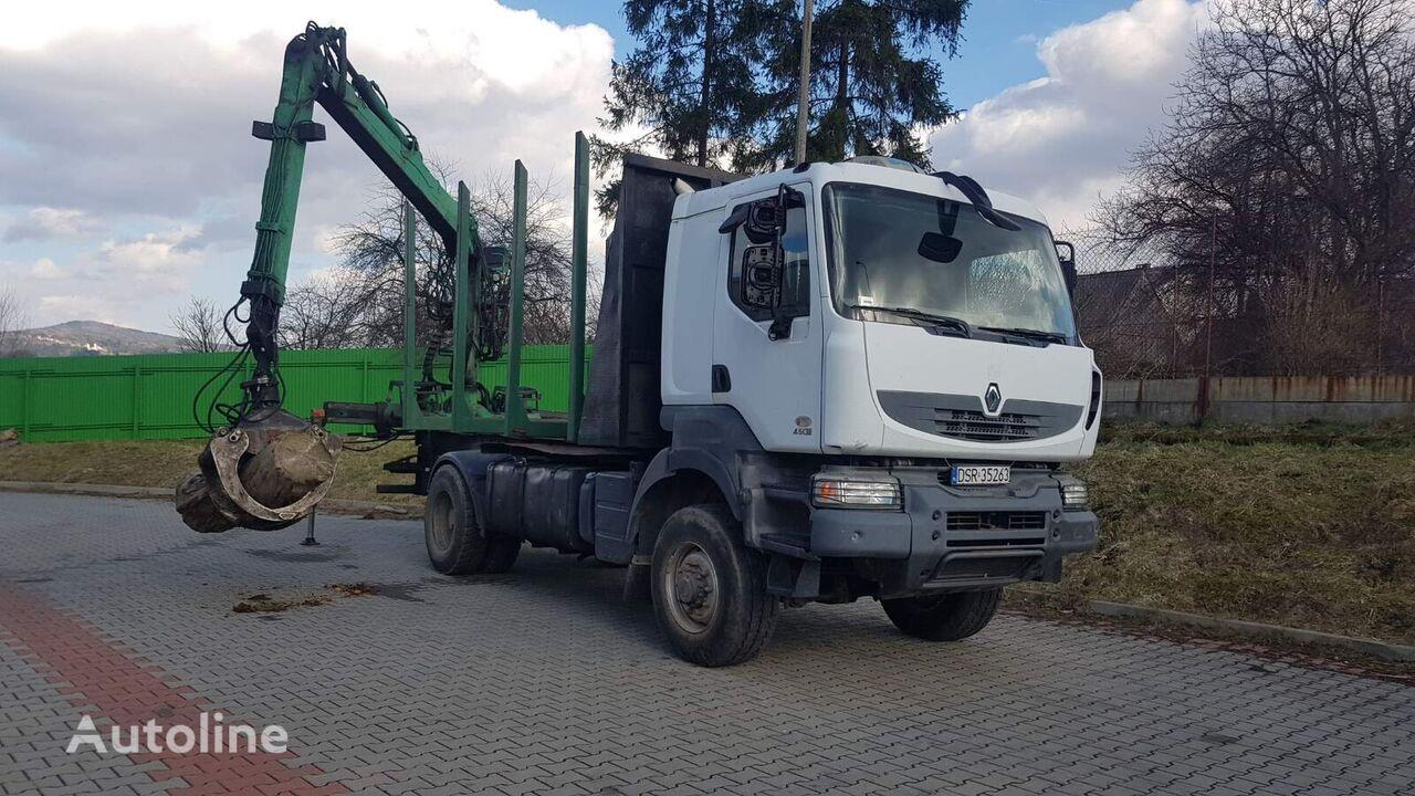 транспорт на дървесина RENAULT Kerax 4x4 do transportu drewna