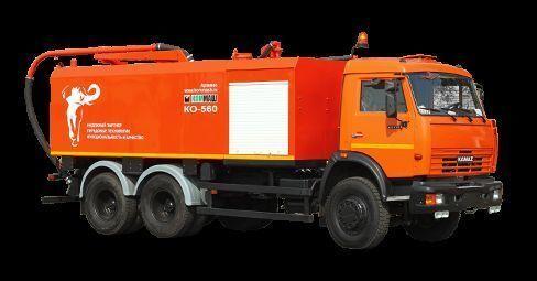 комбинирана каналопочистваща машина КАМАЗ КО-560
