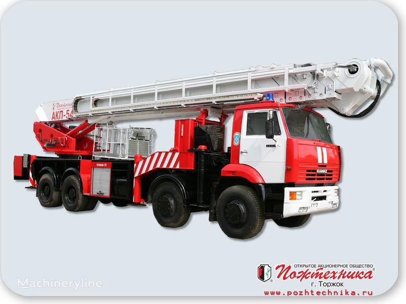 пожарна автостълба КАМАЗ АКП-54
